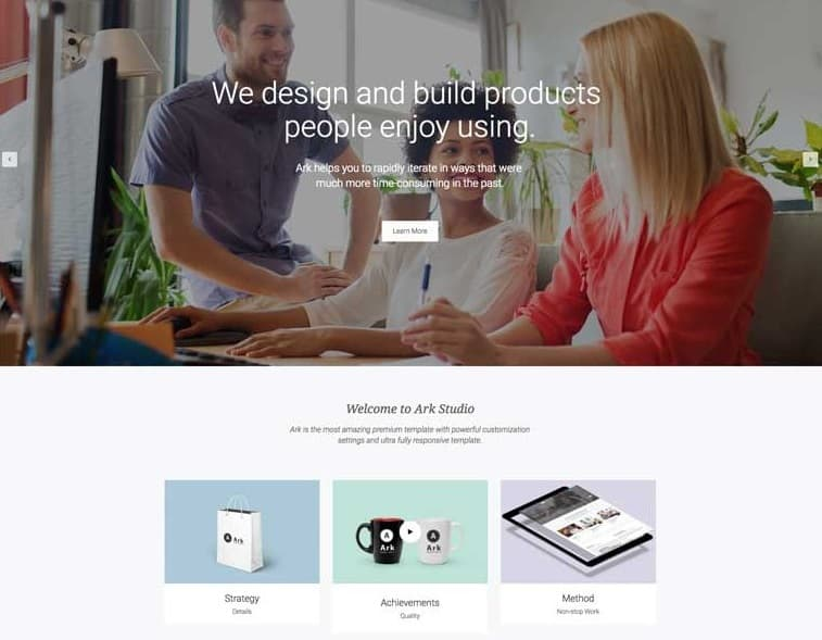 55 best business wordpress themes of 2018 updated the ark next generation business theme wajeb Choice Image