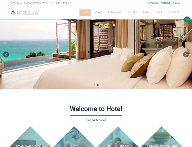 hotelia wordpress theme