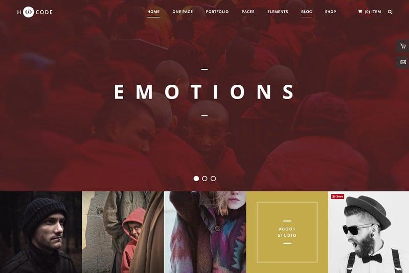 hcode - wordpress theme for photographer