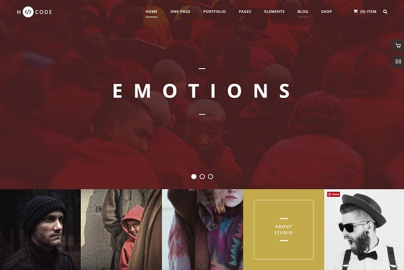 hcode - wordpress theme for photographer
