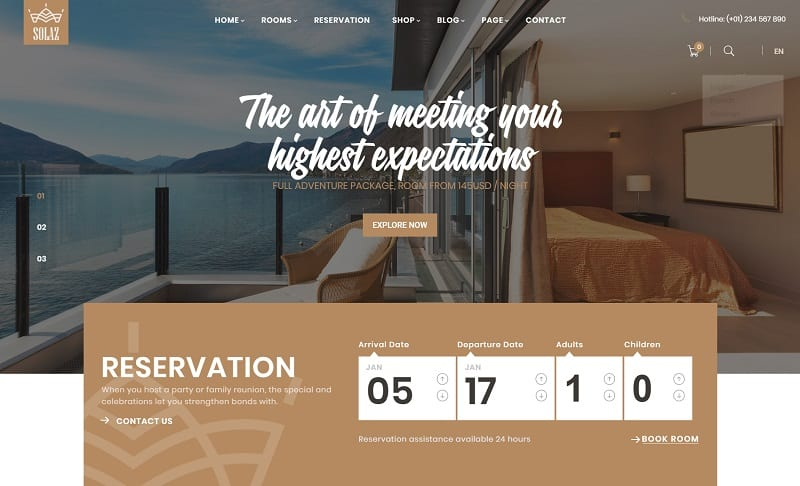 Solaz - Hotel & Lodge WP Theme