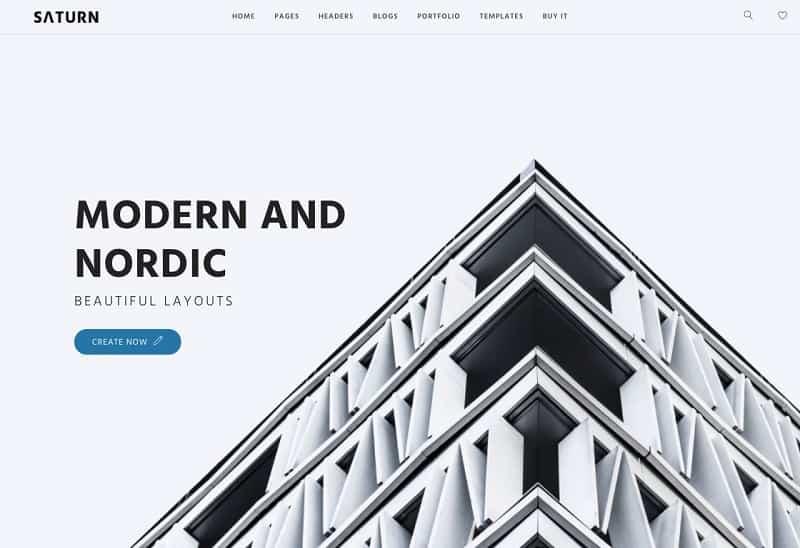 saturn wordpress theme with simple design