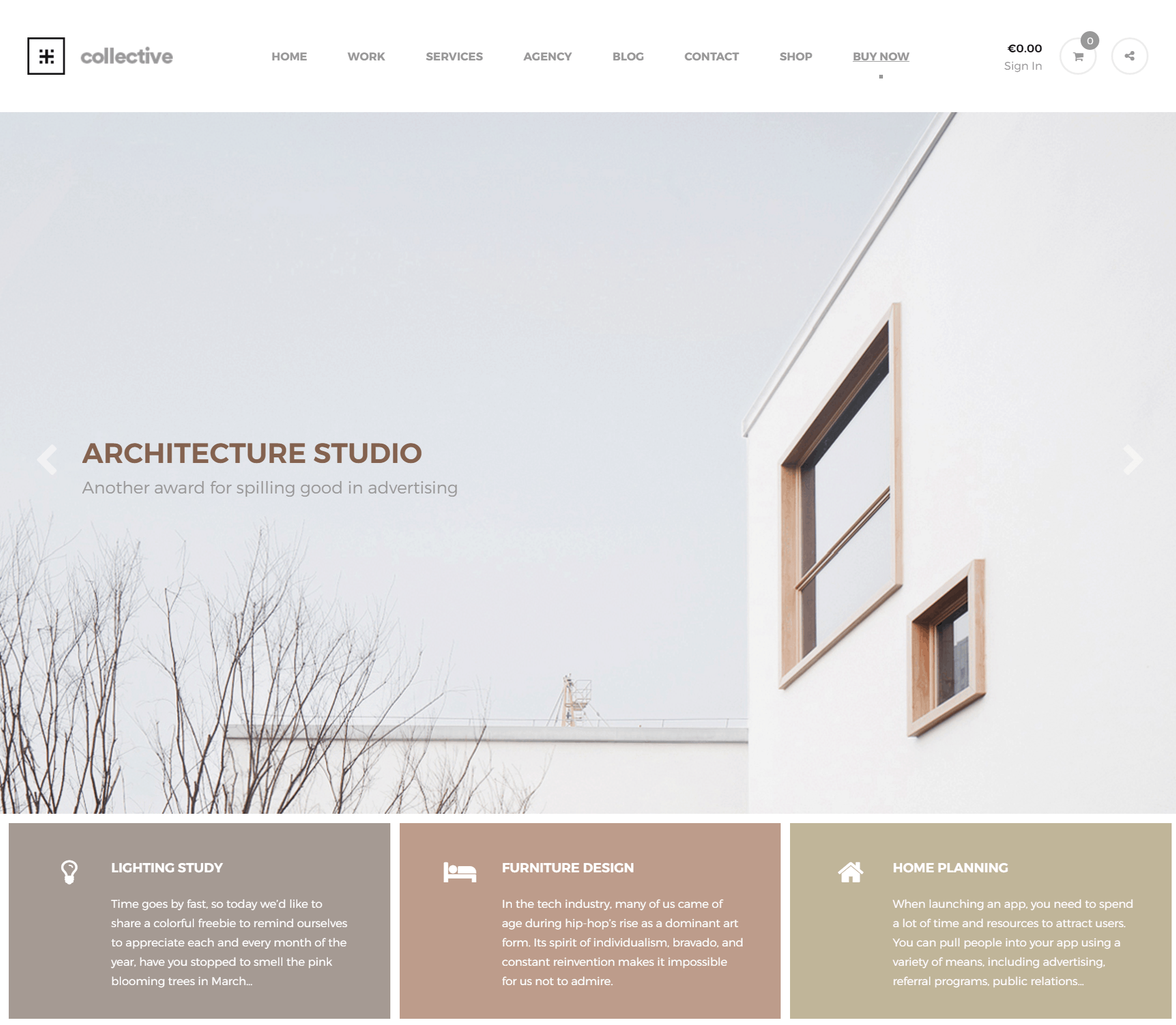 Collective   Minimal WordPress Theme