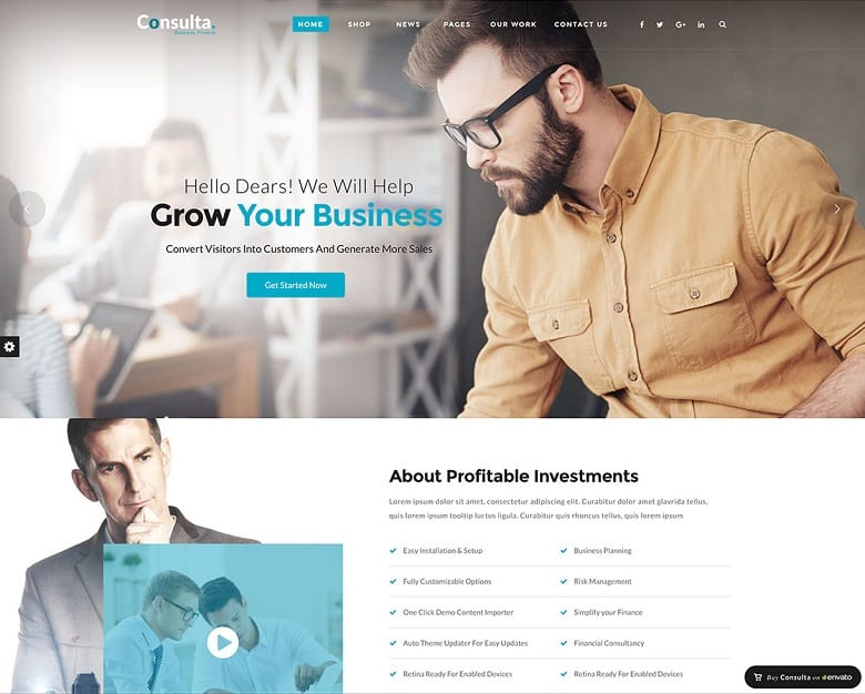 55 best business wordpress themes of 2018 updated consulta business financial theme cheaphphosting Images