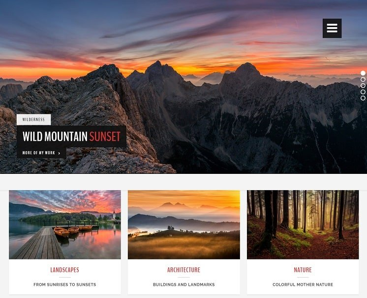 landscape photography theme