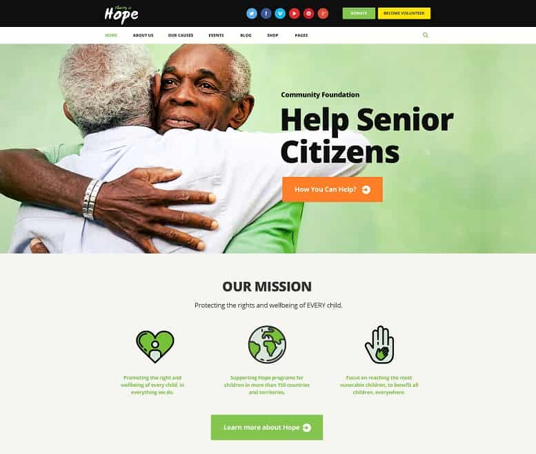 55 best charity wordpress themes 2018 updated webcreate me