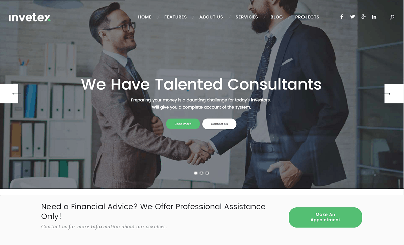 Invetex - Corporate Theme