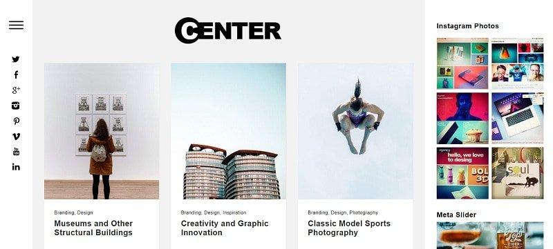 Centre Portfolio Theme