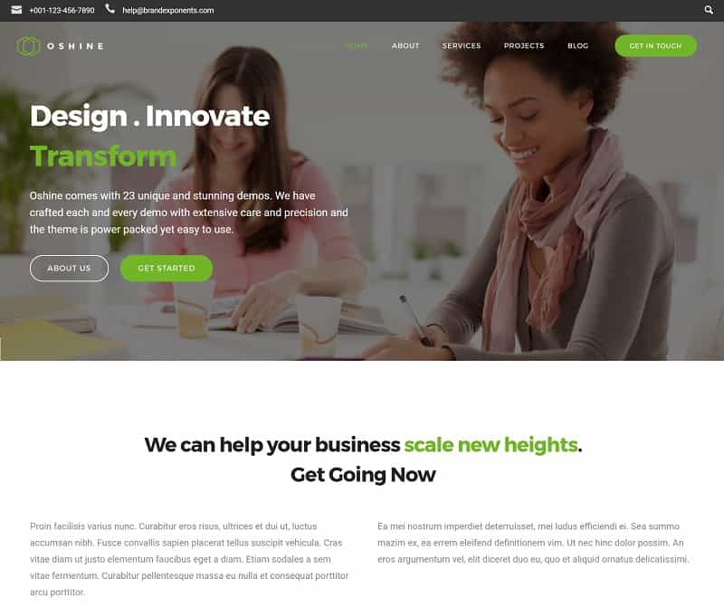 oshine wordpress business theme