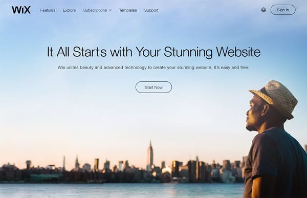 wix website creator