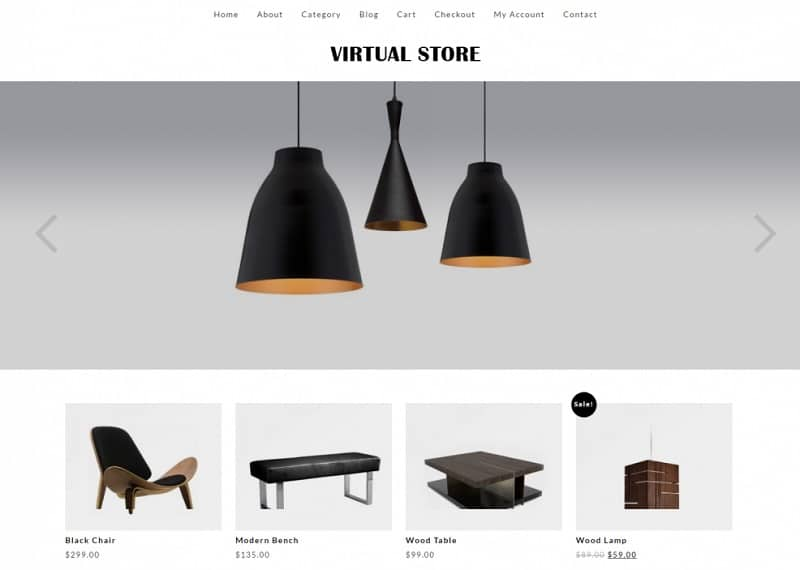 virtual store ecommerce theme