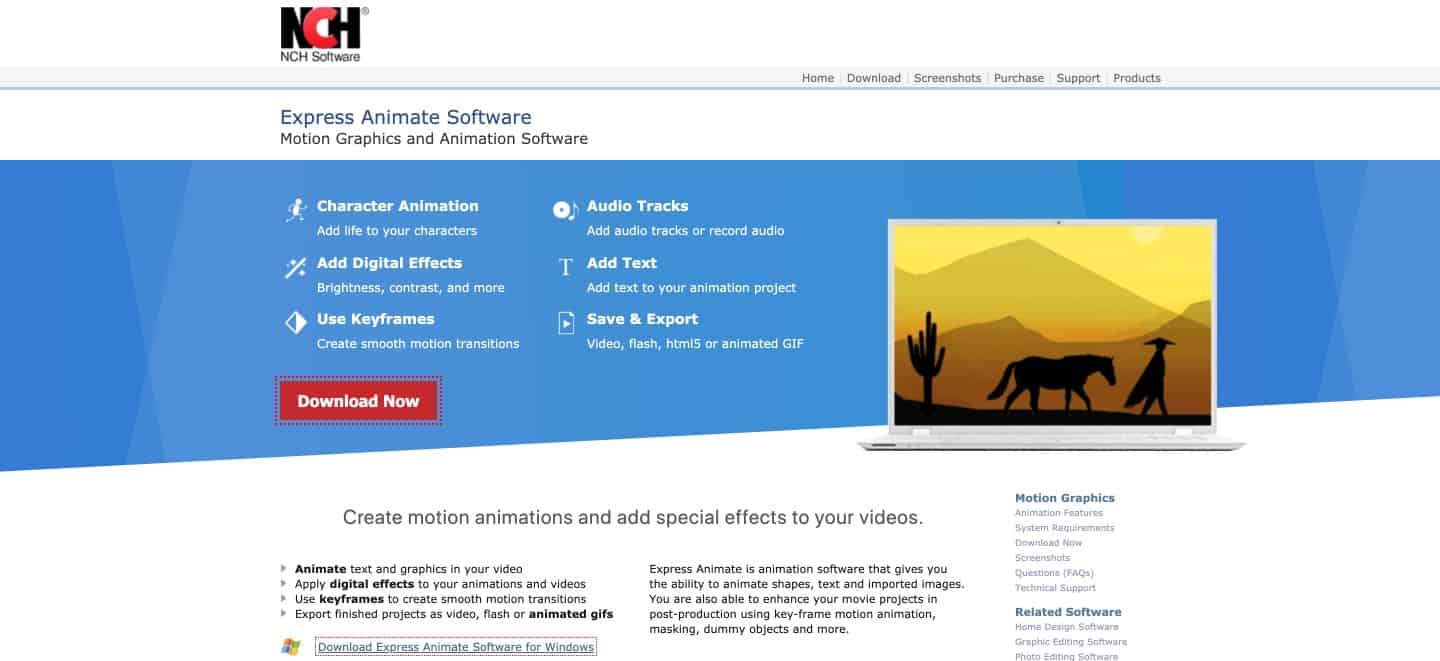 Express Animate - HTML5 animation tool