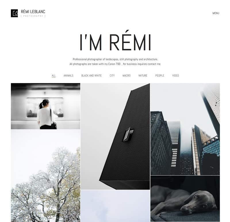 Kalium WordPress Theme for Photographers