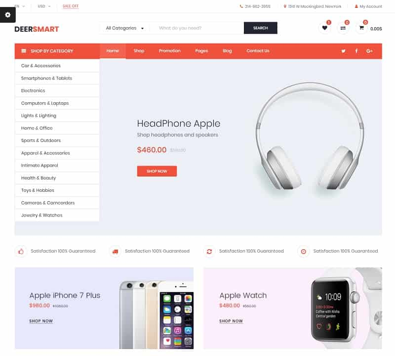 deersmart ecommerce theme for wordpress