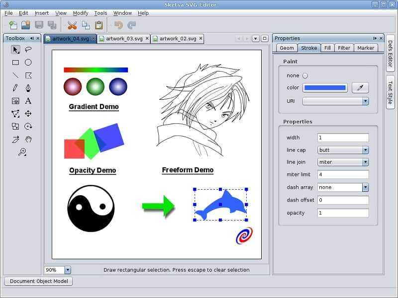 SVG-Edit free graphic design software