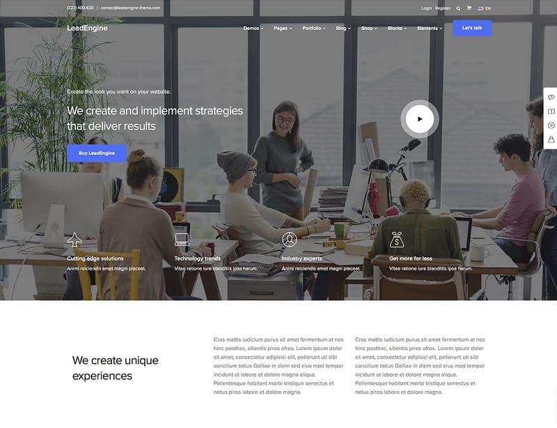 leadengine - wordpress theme for business