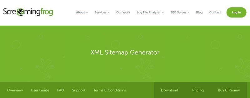 XML Sitemap Generator Screaming Frog
