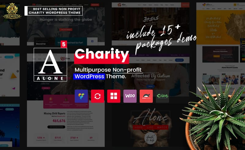alone - charity wordpress theme