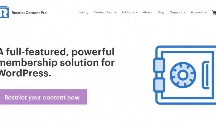 restrict content pro – membership wordpress plugin