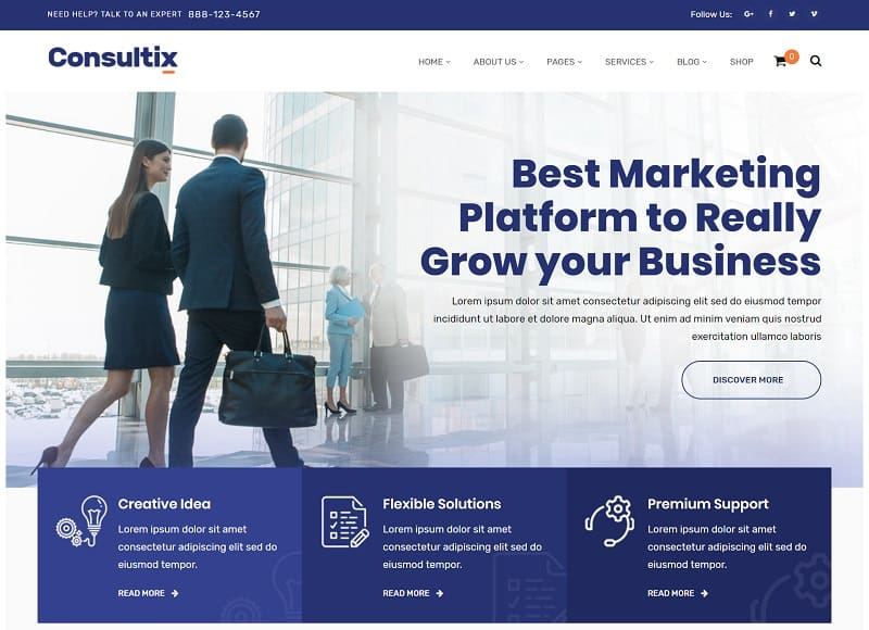 consultix - business WP theme