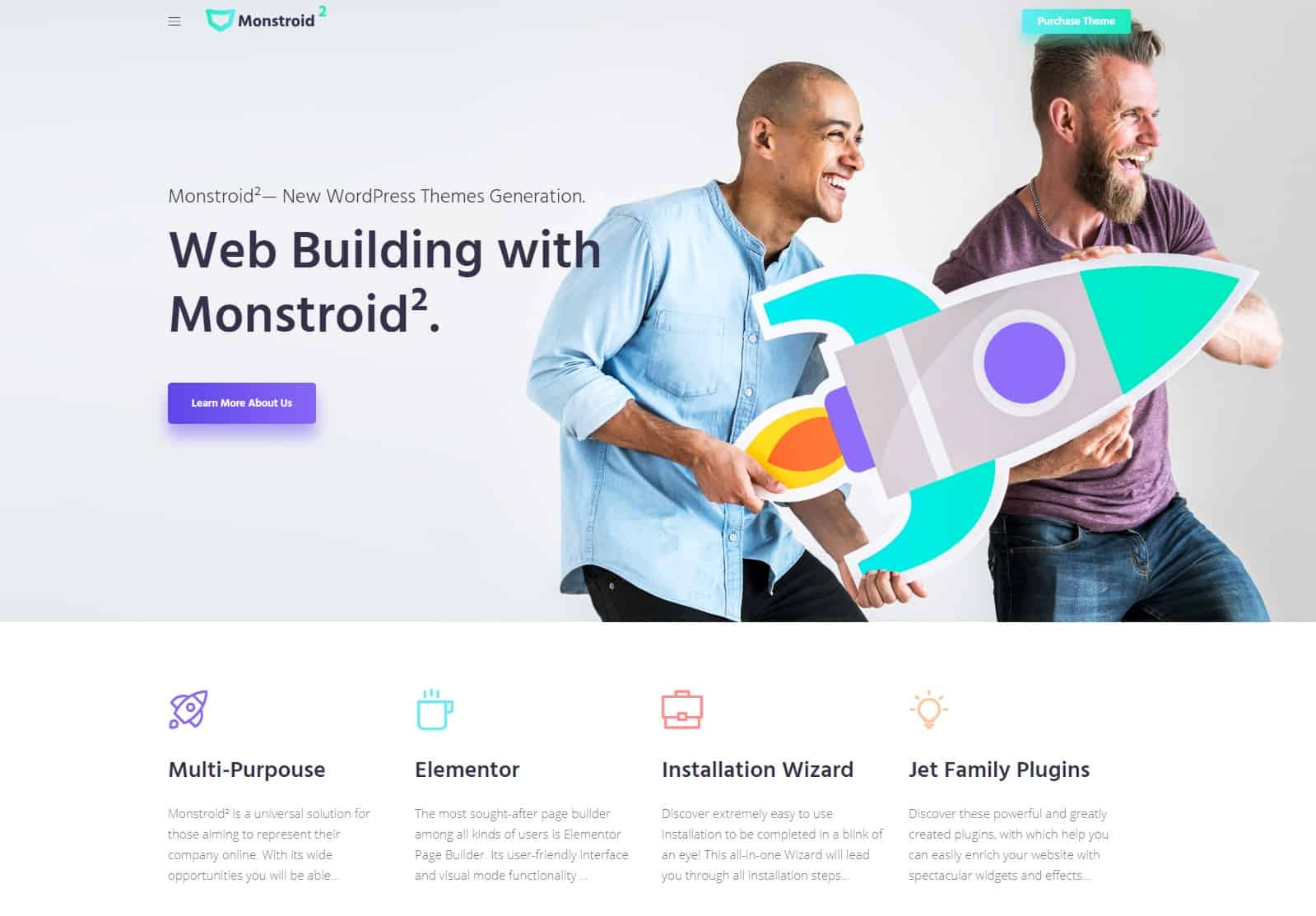 monstroid - unique wordpress theme
