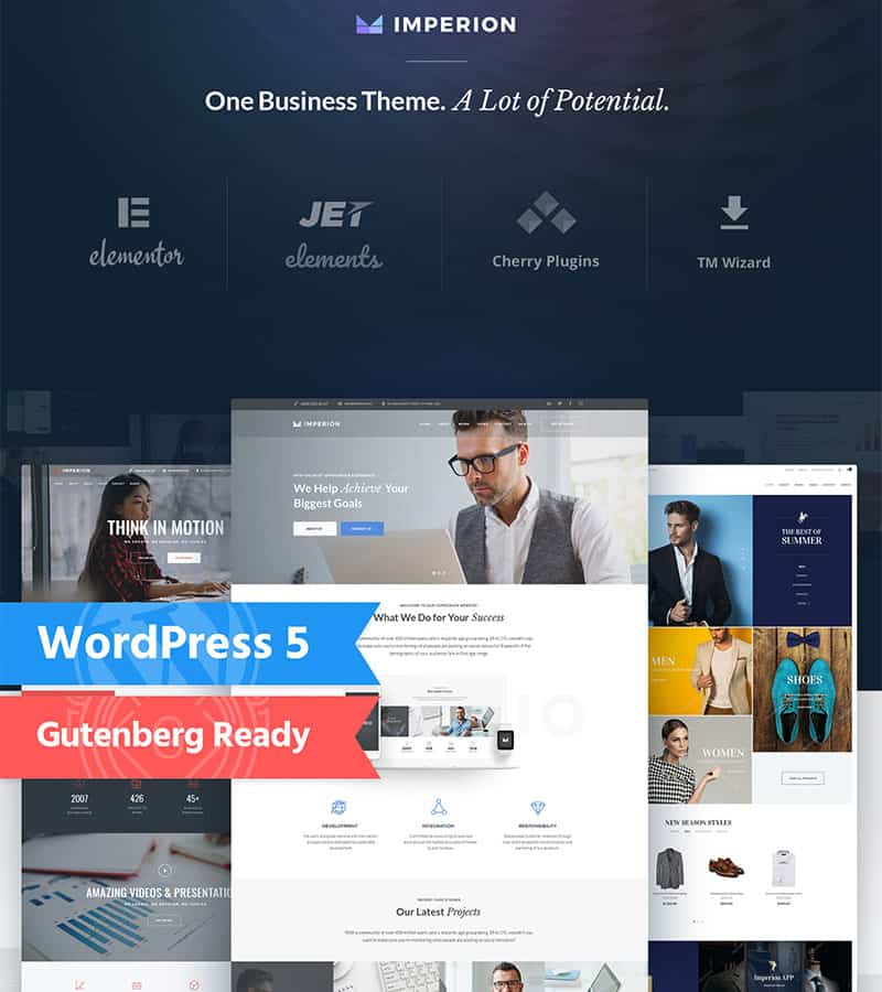 elementor wordpress theme - imperion
