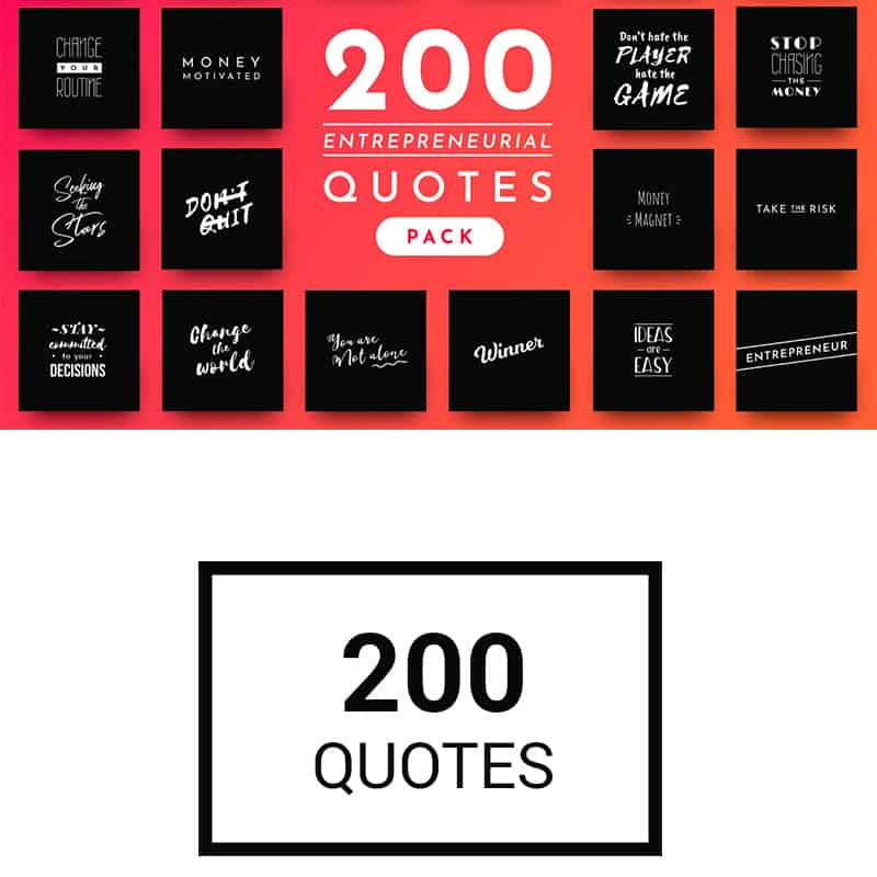 200 Ready-to-Use Entrepreneurial Quotes Social Media