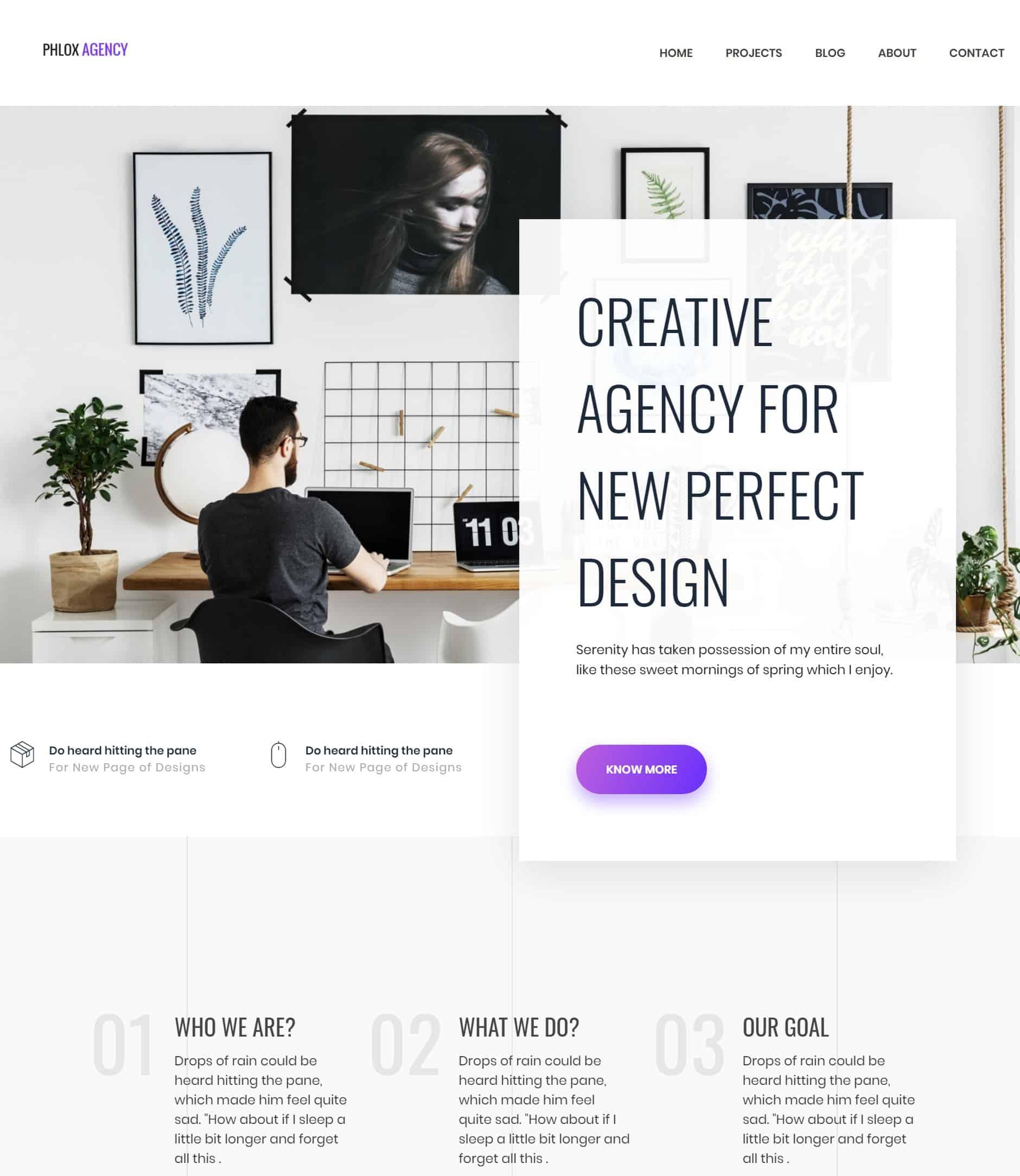 Phlox Agency - Portfolio Theme