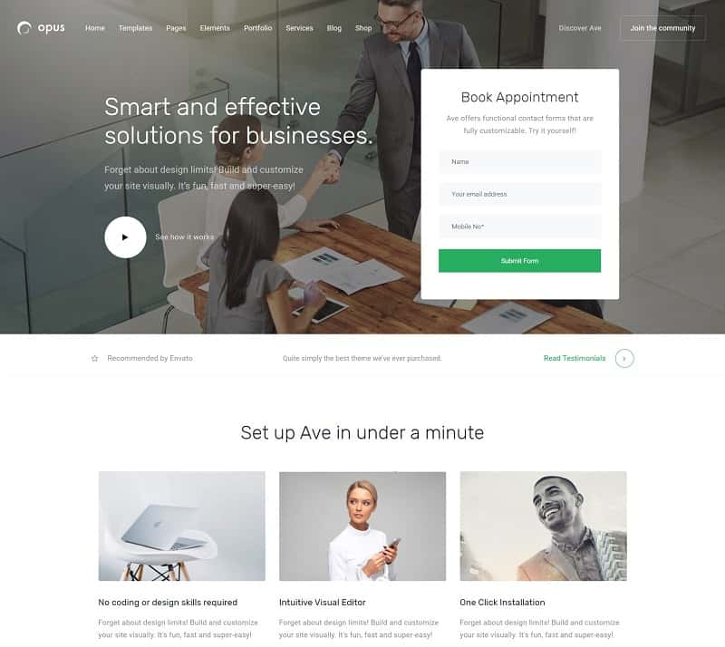 Opus Business WordPress Theme