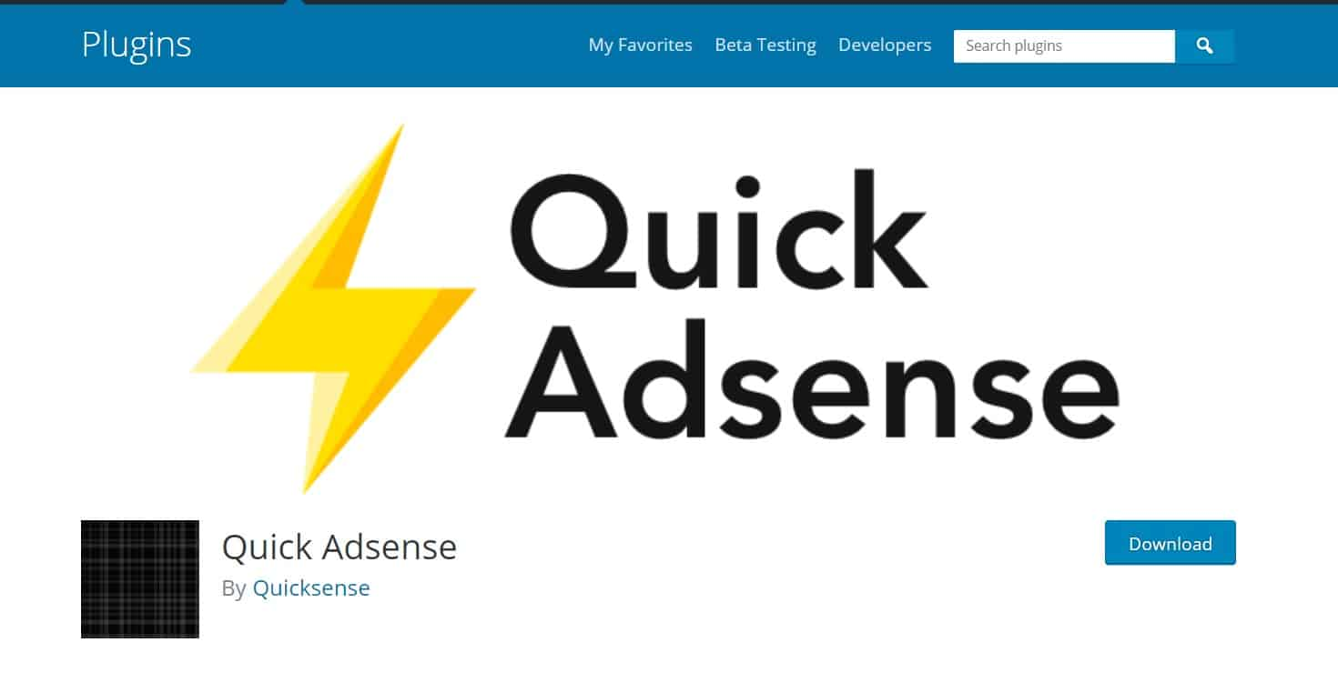 quick adsense - ad management plugin for wordpress