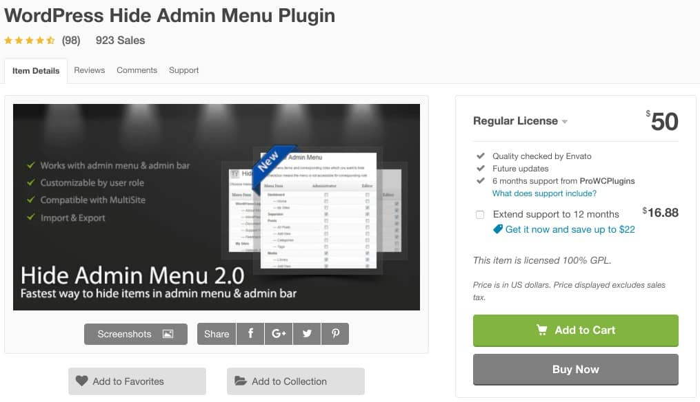 admin wordpress plugin