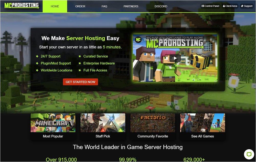 Best Minecraft Server Hosting: MCProHosting