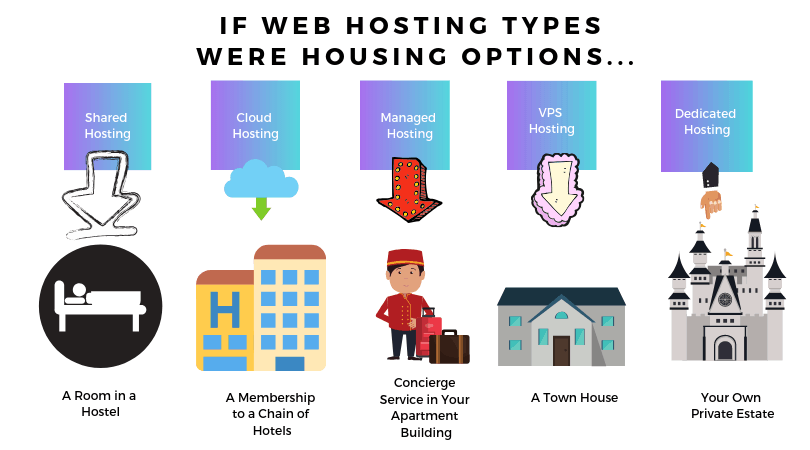 How Websites Are Hosted - Types of web hosting